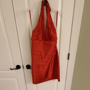 BCBG MAXAZRIA red halter dress
